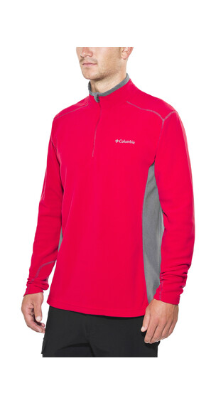 Columbia Klamath Range II Half Zip Men Mountain Red/Graphite